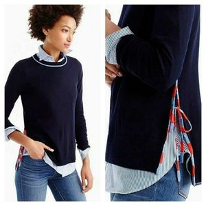 J. Crew Women Merino Wool Side-slit sweater